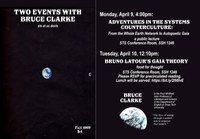"April 9th: Bruce Clarke, ""Adventures in the Systems Counterculture: From the Whole Earth Network to Autopoietic Gaia"""