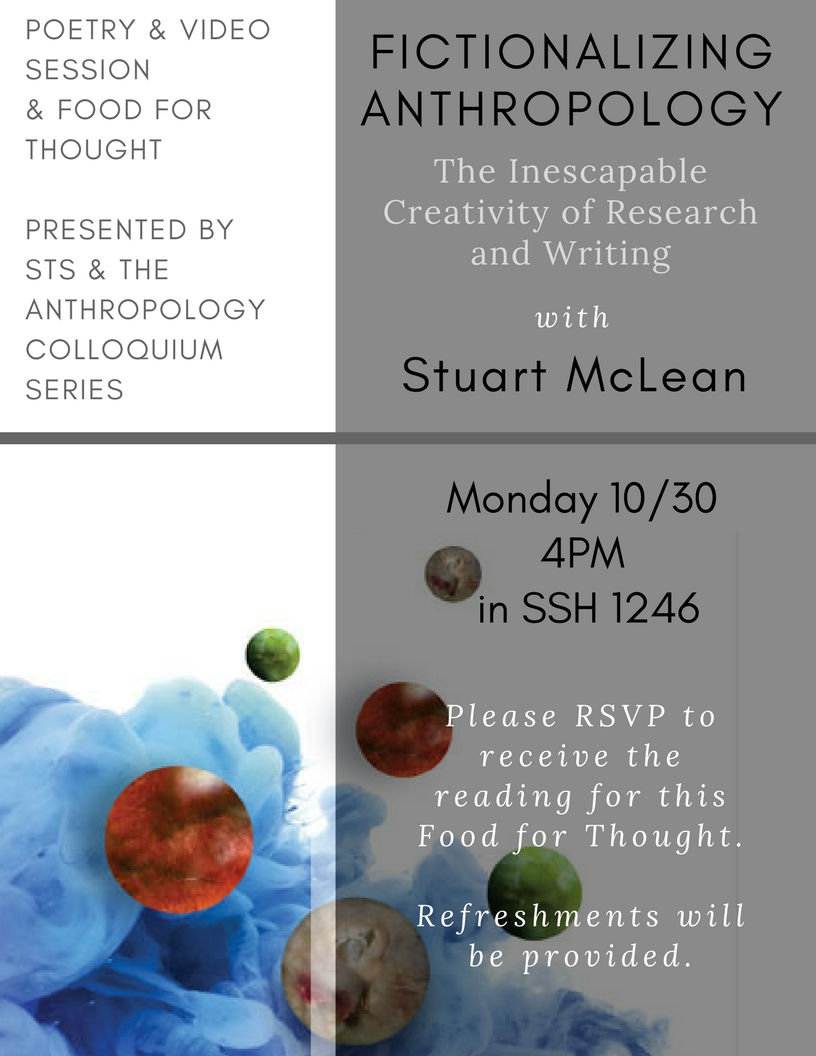 Fictionalizing Anthropology: The Inescapable Creativity of Research and Writing with Stuart McLean