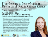 "April 4th: STS Colloquium with Gwen Ottinger, ""From Sensing to Sense-Making: the Next Frontier in Citizen Science"""