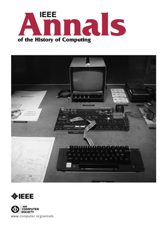 Prof. Con Diaz named Editor in Chief of the journal IEEE Annals of the History of Computing